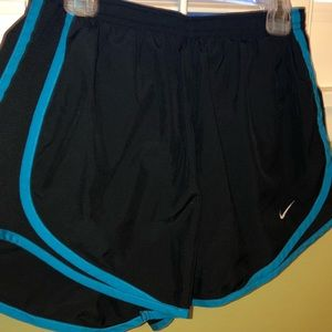 Black and blue nike shorts- great condition